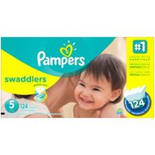 Pampers Swadlers Pampers Swaddlers Diapers Size 5 124 count Diapers