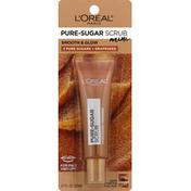 L'Oreal Scrub, Pure-Sugar, Mini, Smooth & Glow, 3 Pure Sugars + Grapeseed
