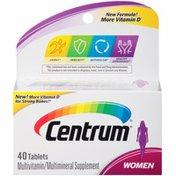 Centrum Women Tablets Multivitamin/Multimineral Supplement