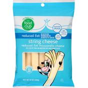 Food Club String Cheese, Reduced Fat, Mozzarella
