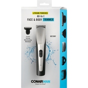 ConairMan Trimmer, Face & Body, All-in-1
