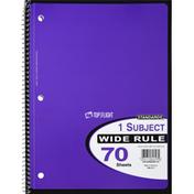 Top Flight Notebook, Wide Rule, 1 Subject, 70 Sheets