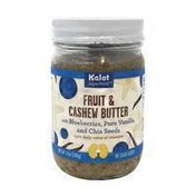 Kalot Superfood Fruit & Cashew Butter With Blueberries, Pure Vanilla, And Chia Seeds