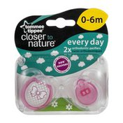 Tommee Tippee Closer to Nature Everyday Orthodontic Pacifiers 0-6M - 2 CT