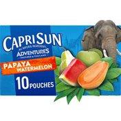 Capri Sun Papaya Watermelon Naturally Flavored Juice Drink Blend