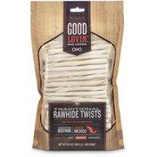 Good Lovin' Moderate Traditional Rawhide Twists Dog Chews