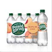 Poland spring Sparkling Water, White Peach Ginger