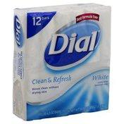 Dial Antibacterial Deodorant Soap, White