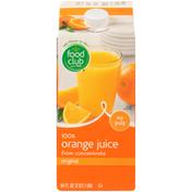 Food Club 100% Original Orange No Pulp Juice From Concentrate