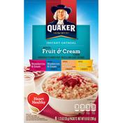 Quaker Fruit & Cream Instant Oatmeal Variety Pack