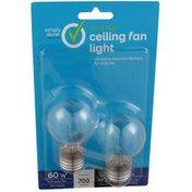 Simply Done 60 W Ceiling Fan Light Clear A15 Bulbs