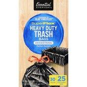 Essential Everyday Trash Bags, Drawstring, Super Flex