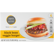Open Acres Black Bean Veggie Burger
