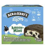 Ben & Jerry's Pint Slices Ice Cream Bars Amazemint