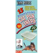 Van Ness Cat Pan Liners, Drawstring, Extra-Giant, Valu-Pak