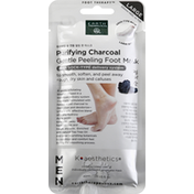 Earth Therapeutics Foot Mask, Purifying Charcoal, Large, Men