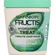 Garnier Hair Mask, 1 Minute, Treat, Hydrating, Aloe Extract
