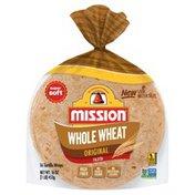 Mission Flour Tortillas 100% Whole Wheat Fajita