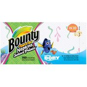 Bounty Paper Napkins, Finding Dory Select Prints, 160 Count Towels/Napkins