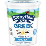 Stonyfield® Organic Greek Vanilla Bean Nonfat Yogurt