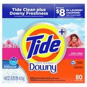 Tide Plus Downy Powder Laundry Detergent, April Fresh