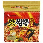 Nongshim Soup, Champong Noodle, Spicy Seafood Flavor, Family Pack