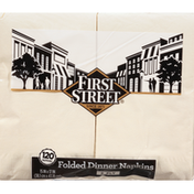 First Street Napkins, Dinner, Folded, Ivory, 2-Ply