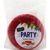Signature Home Plastic Bowls, Party, 12 Ounce