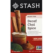 Stash Tea Black Tea, Chai Spice, Decaf, Bags
