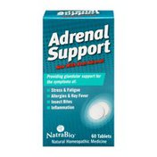NatraBio Adrenal Support Homeopathic Medicine Tablets - 60 CT