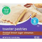 Food Club Frosted Brown Sugar Cinnamon Toaster Pastries