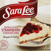 Sara Lee Cheesecake, Strawberry, French Style, Whipped & Fluffy