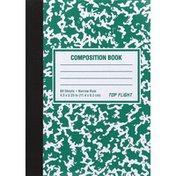 Top Flight Composition Book, Narrow Rule, 80 Sheets