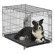 """MidWest 36"""" x 23"""" x 25"""" iCrate Single-Door Folding Metal Pet Crate"""