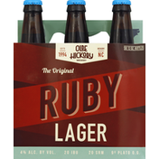 Olde Hickory Beer, Amber Lager, Ruby, The Original