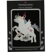 Harvey Lewis Holiday Ornament, Unicorn