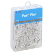 For Keeps Push Pins, Clear