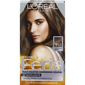 Feria Permanent Haircolour Gel, Cool Medium Brown T53, Multi-Faceted Shimmering