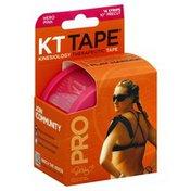 KT Tape Sports Tape, Elastic, Hero Pink, 10 Inch Precut Strips