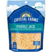 Crystal Farms Finely Shredded Marble Jack Cheese
