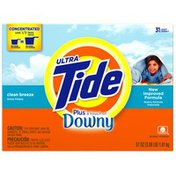Tide Ultra Plus Touch of Downy Powder Clean Breeze Scent Laundry Detergent