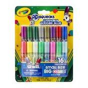 Crayola PiP-Squeaks Washable Glitter Glue Unique & Bright Colors - 16 CT