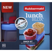 Rubbermaid Snack Kit, with Side & Snack Containers