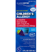 CareOne Children's Allergy, Sugar Free, Grape, Ages 2 Years and Older, Box
