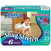 Stater Bros Snug Stretch Adjustable Stretch Grip Jumbo Pack Size 6 35 Lbs & Over Diapers