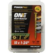Power Pro Screws, Multi-Material, Exterior, T25