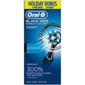 Oral-B Power 1000 CrossAction Electric Toothbrush, Black, Powered by Braun + Free Refill