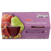 Hy-Vee Peaches And Pears In Naturally Flavored Black Cherry Gel