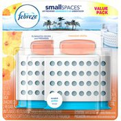 Febreze Small Spaces Febreze SmallSpaces Hawaiian Aloha Dual Starter Kit Air Freshener (2 Count, 11.0 ml) Air Care