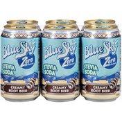 Blue Sky Zero Calorie Creamy Root Beer Stevia Soda